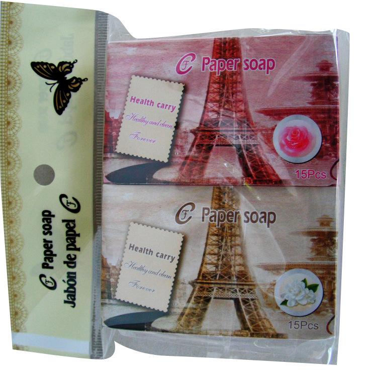 厂家供应纸香皂 肥皂片英文版盒装彩色皂片