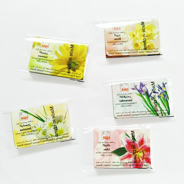 厂家供应新配方纸香皂片OEM外销款彩色皂花