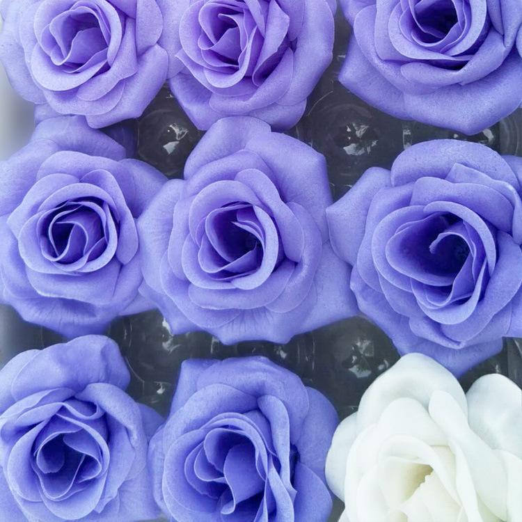 厂家供应创意肥皂花彩色牡丹精油纸香皂 沐浴礼品温和配方