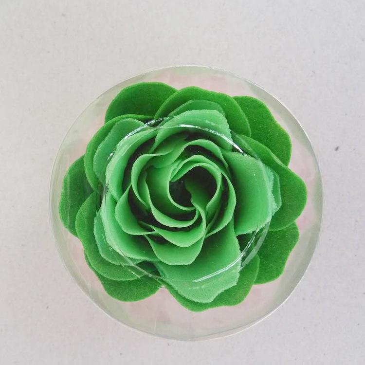厂家直供多层香皂花清洁纸肥皂花单朵层数克数定制圆盒玫瑰花
