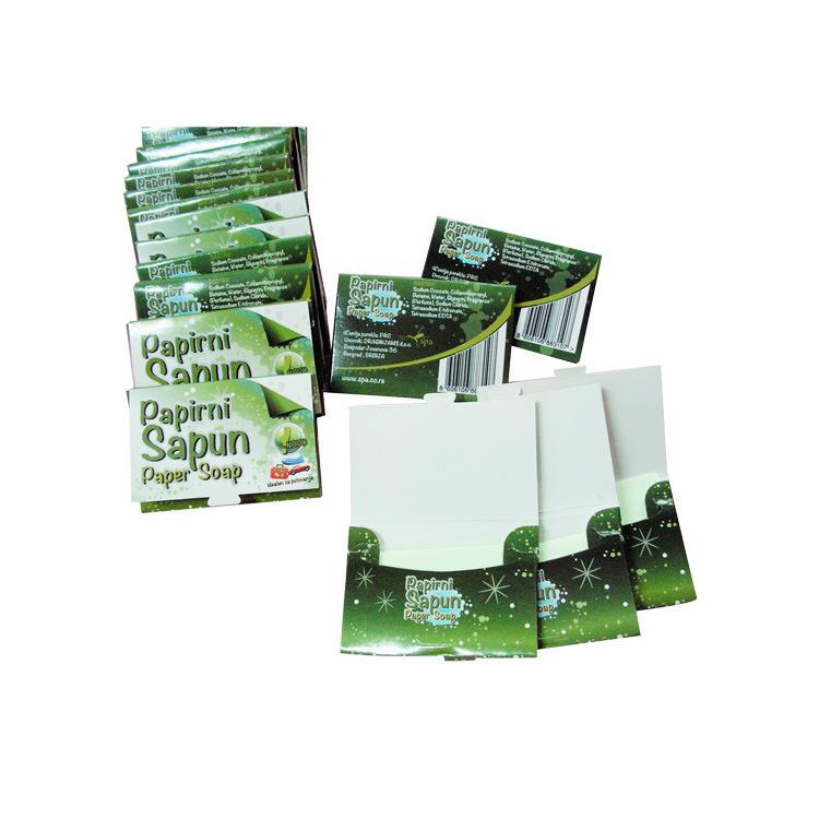 厂家供应白色香皂片福利定制清洁日用纸皂遇水即溶酒店用肥皂片