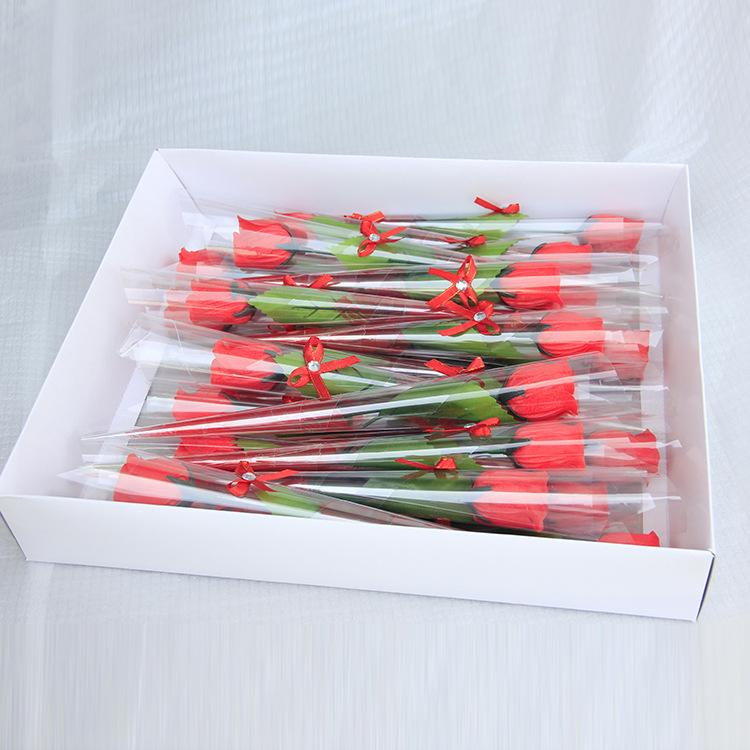 厂家供应纸香皂花单支玫瑰皂花创意礼品情人节礼物皂花节日定制