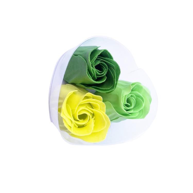 销售多种颜色皂花片3朵香皂花小礼品文创彩色印刷玫瑰肥皂纸加工