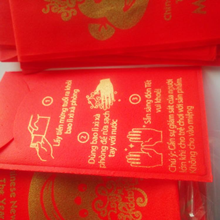 批发加工OEM喜庆婚宴节日红包洗手纸香皂肥皂纸个性化图案定制