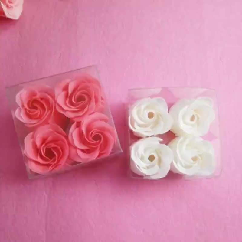 厂家加工方盒香皂花玫瑰纸香皂节日婚庆活动礼品肥皂片承接定制