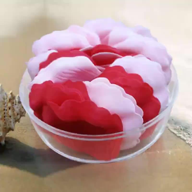 厂家加工清洁立体玫瑰花瓣皂润肤纸香皂片时尚便于携带洗手皂片