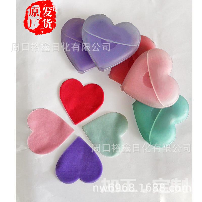 厂家直供新款纸肥皂片清洁洗手创意纸皂爱心皂片OEM定制加工